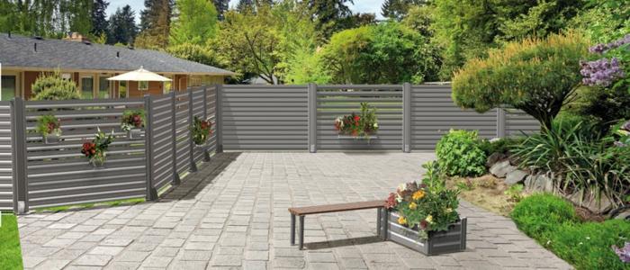 palissade de jardin en aluminium