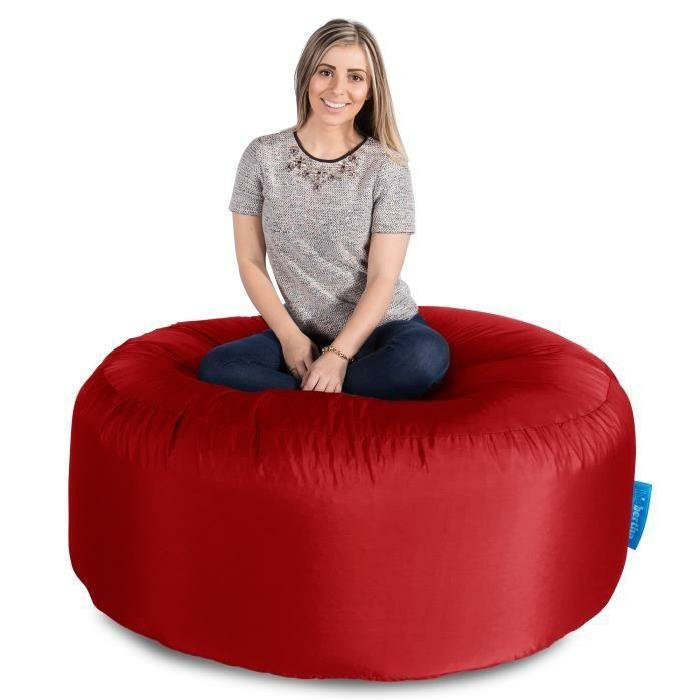 par exemple c'est un pouf géant modèle jumbo rouge