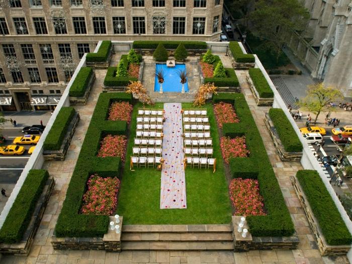 par exemple c'est un resto jardin sur toit