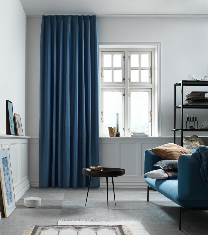 rideaux occultants en bleu