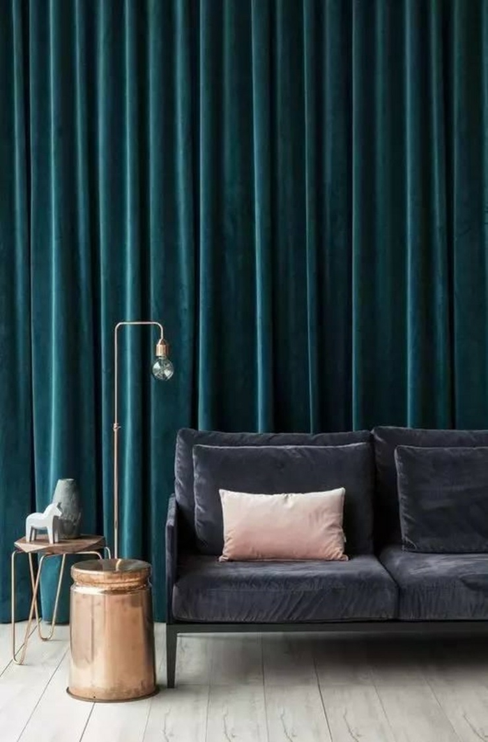 rideaux occultants en vert