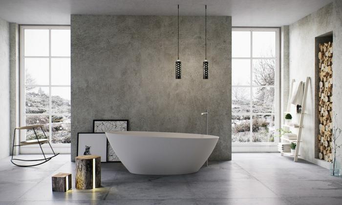 par exemple c'est une salle de bains scandinave