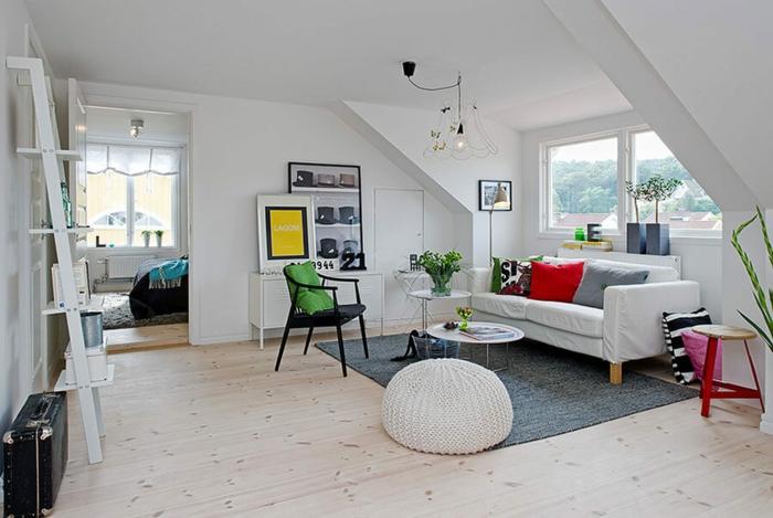 par exemple c'est un salon confortable en style scandinave