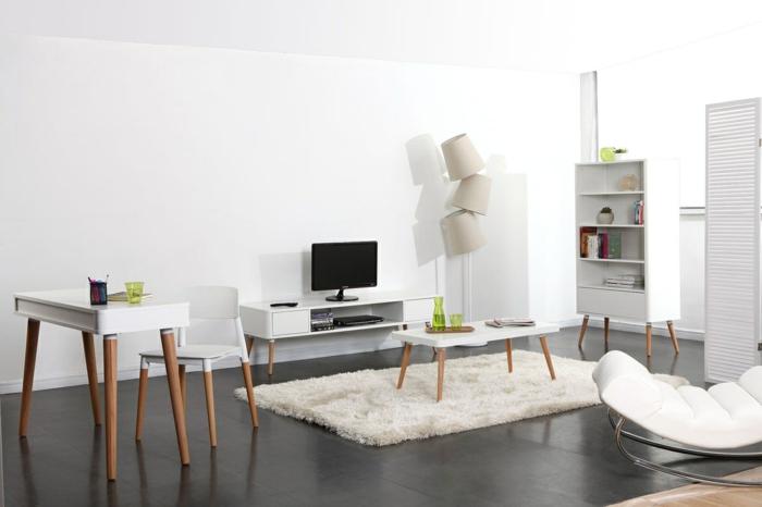 style scandinave en couleur blanche