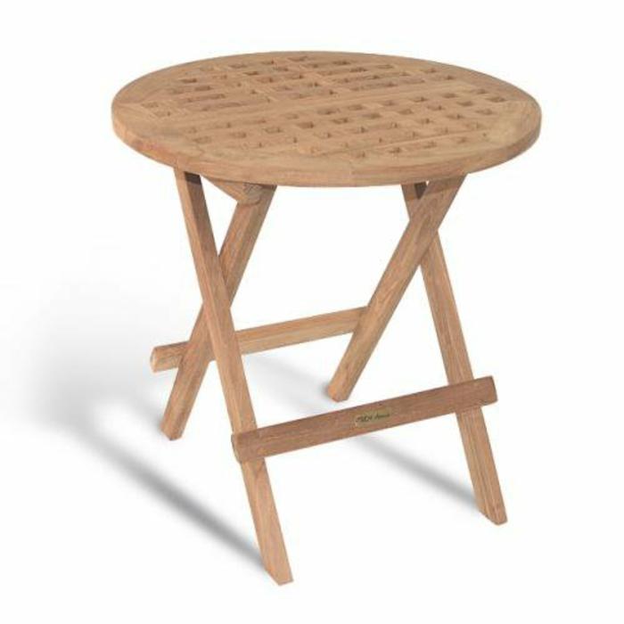 table basse pliante en teck