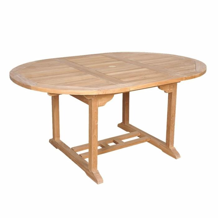 table en bois de teck brut