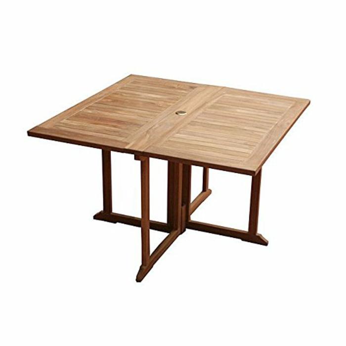 table pliante carrée en teck