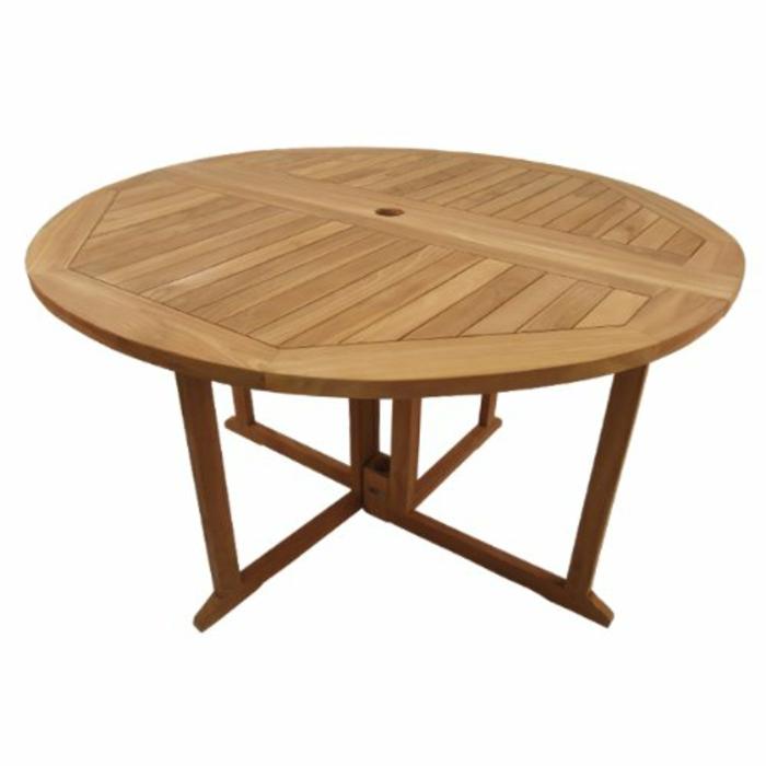 par exemple c'est une table pliante ronde en teck