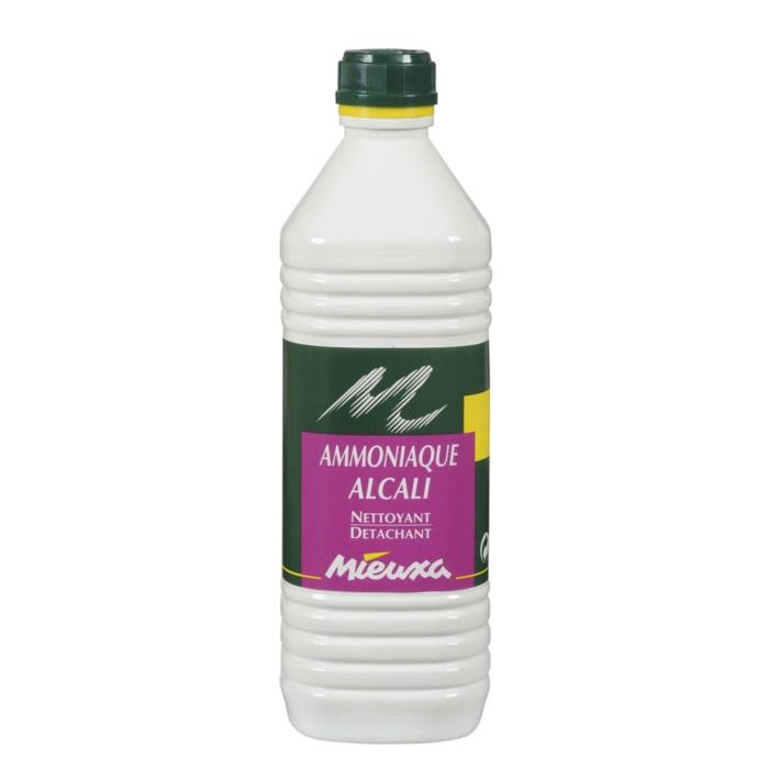 l'amoniaque est souvent utilisé pour nettoyer des taches sur le parquet