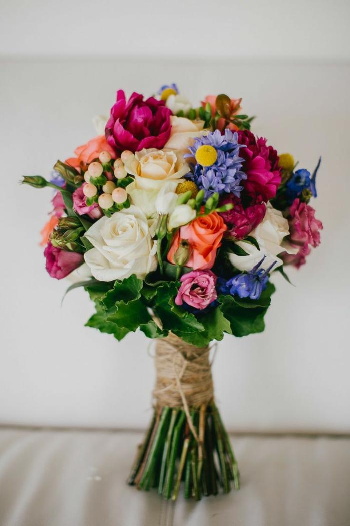 bouquet de mariée multicolore