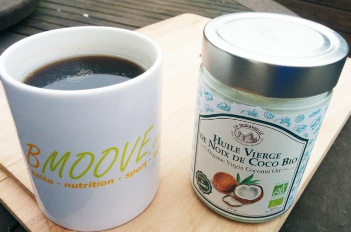 par exemple c'est du café avec de l'huile de coco