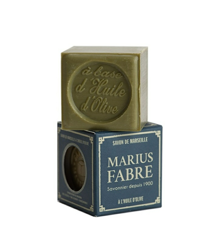 par exemple c'est un cube de savon de marseille de marius fabre