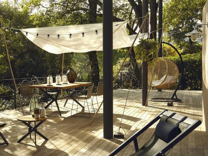 balancelle de jardin fauteuil suspendu