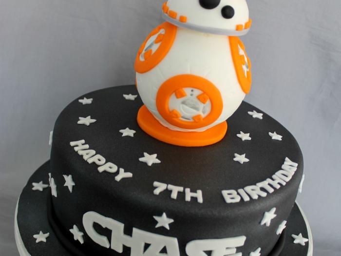 gâteau d'anniversaire star wars bb 8
