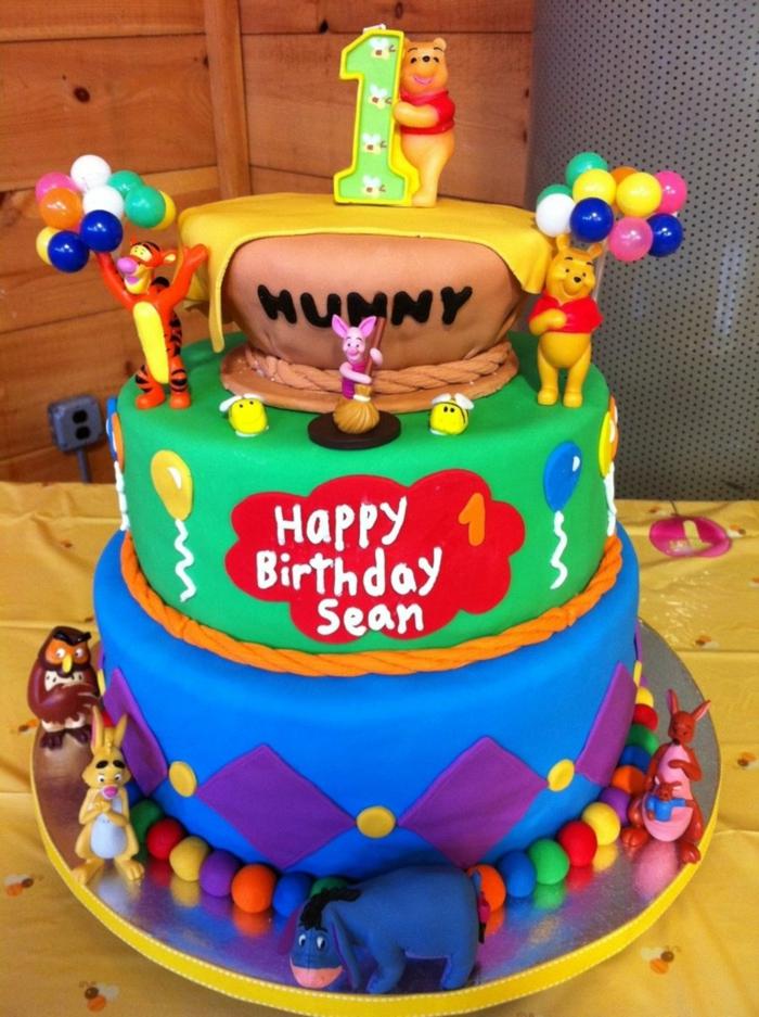 """Gâteau d'anniversaire """"Winnie l'ourson"""""""