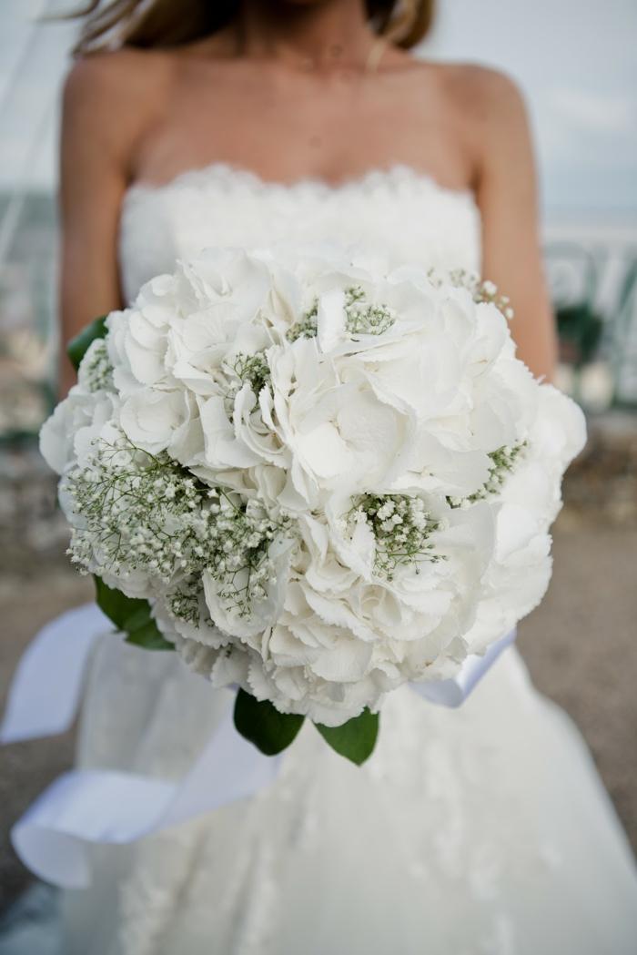 bouquet de mariée hortensias
