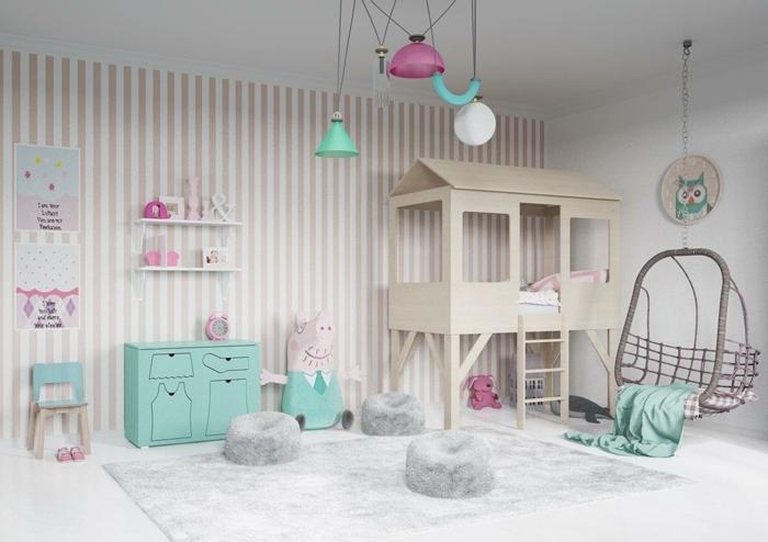 lit cabane chambre enfant idée