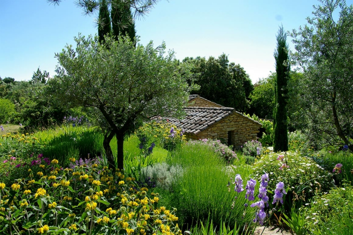 par exemple c'est un jardin méditerranéen