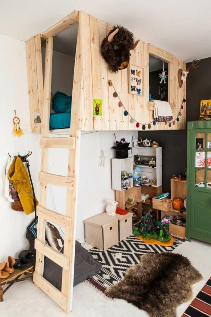 lit cabane chambre enfant idée originale