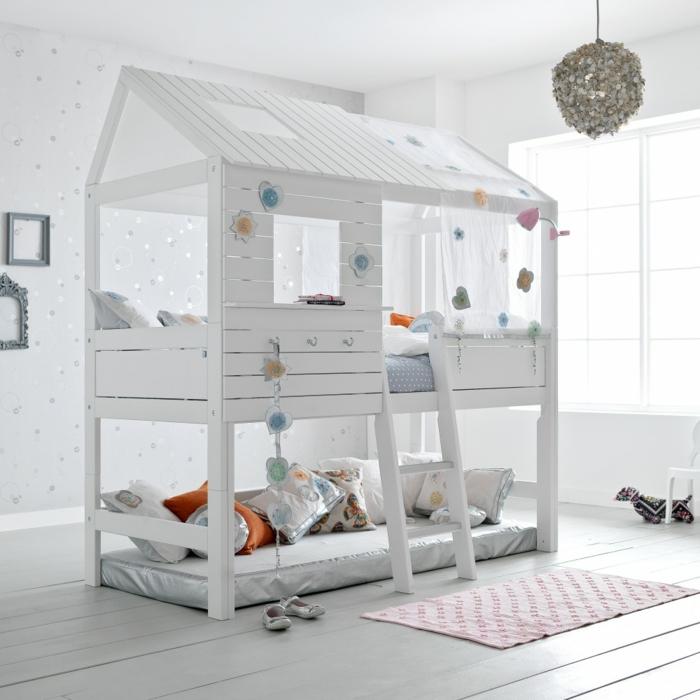 lit cabane enfant 2 étages