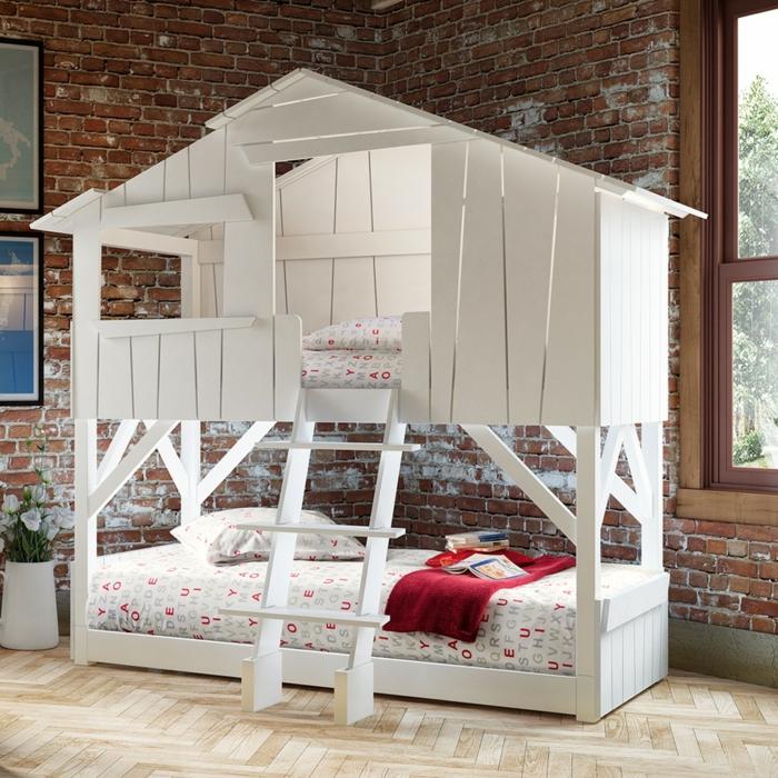 lit cabane enfant en 2 étages
