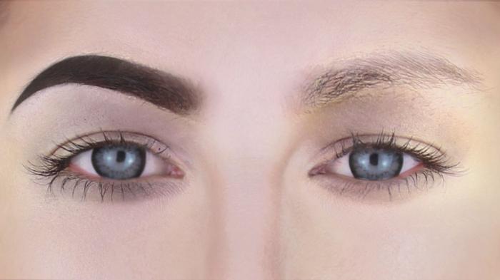 maquillage sourcils après la pose du fond de teint