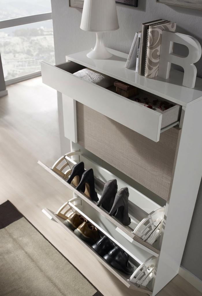meuble chaussures moderne et actuel en blanc