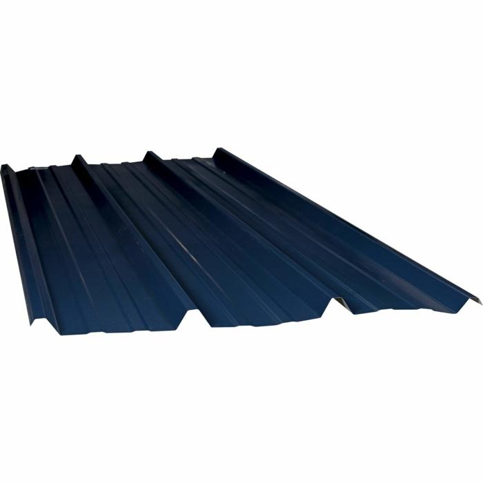 plaque acier galvanisé bleu