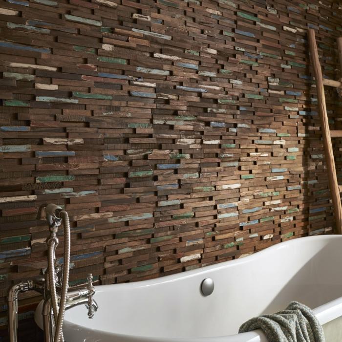 plaquettes de parement en bois recyclé