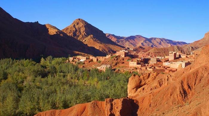 les monts d'atlas au maroc