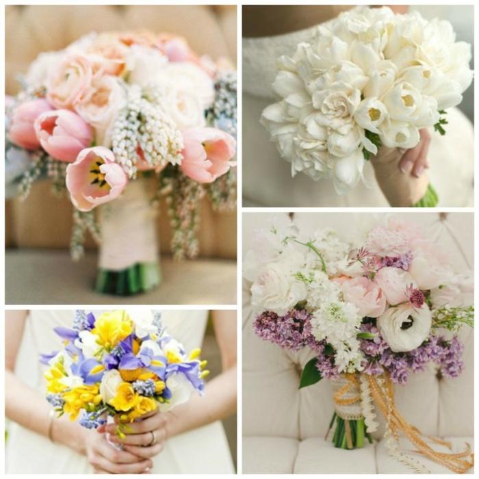 bouquet de mariée en 4 photos