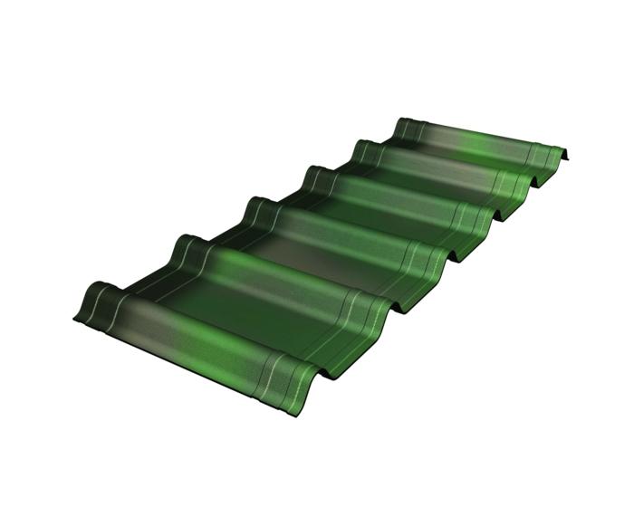 tôle imitation tuile en couleur vert ombré