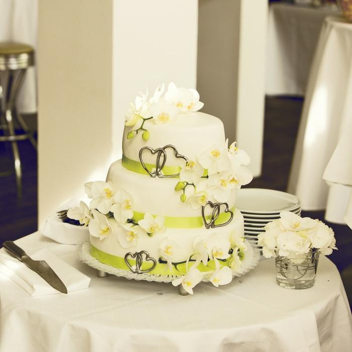 par exemple c'est une tarte avec une déco fleurale