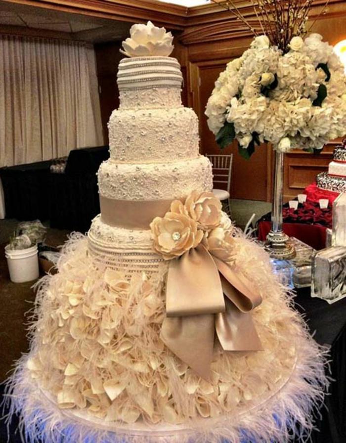 par exemple c'est une tarte mariage géante