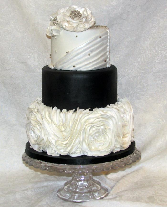 par exemple c'est une tarte en noir et blanc