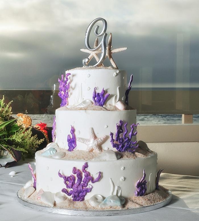 par exemple c'est une tarte thématique fond de mer