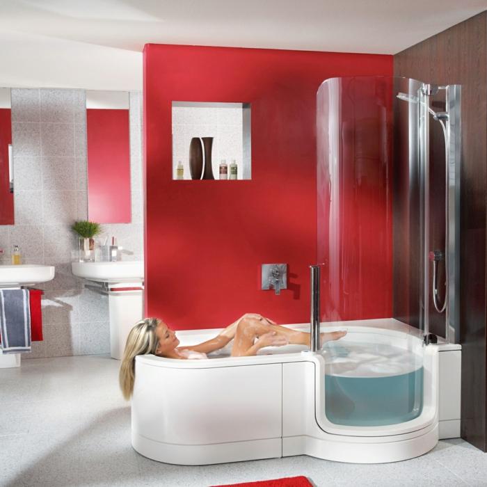 exemple de baignoire à porte arrondie