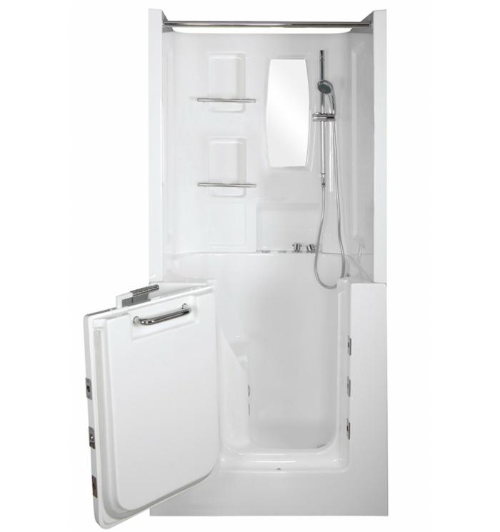 baignoire à porte douche