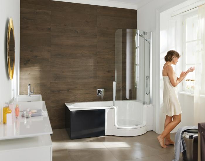 baignoire avec pare douche