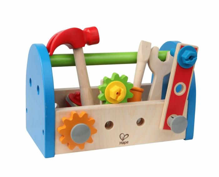 boîte à outils, pour votre garçon-un jouet en bois