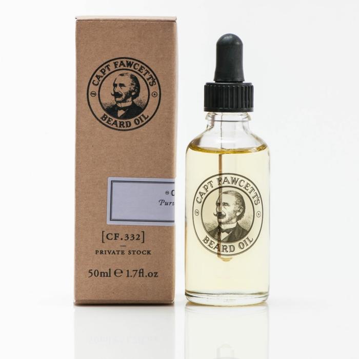 captain fawcetts huile à barbe produit entretien barbe