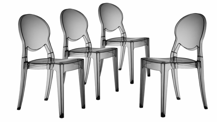 Chaise transparente pour une pi ce la mode - Chaise transparente couleur ...