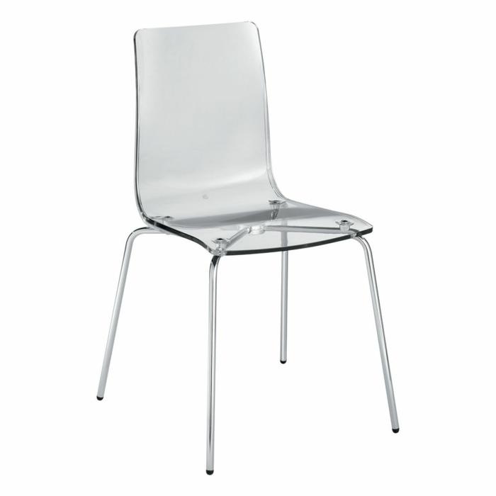 chaise transparente pour une pi ce la mode. Black Bedroom Furniture Sets. Home Design Ideas