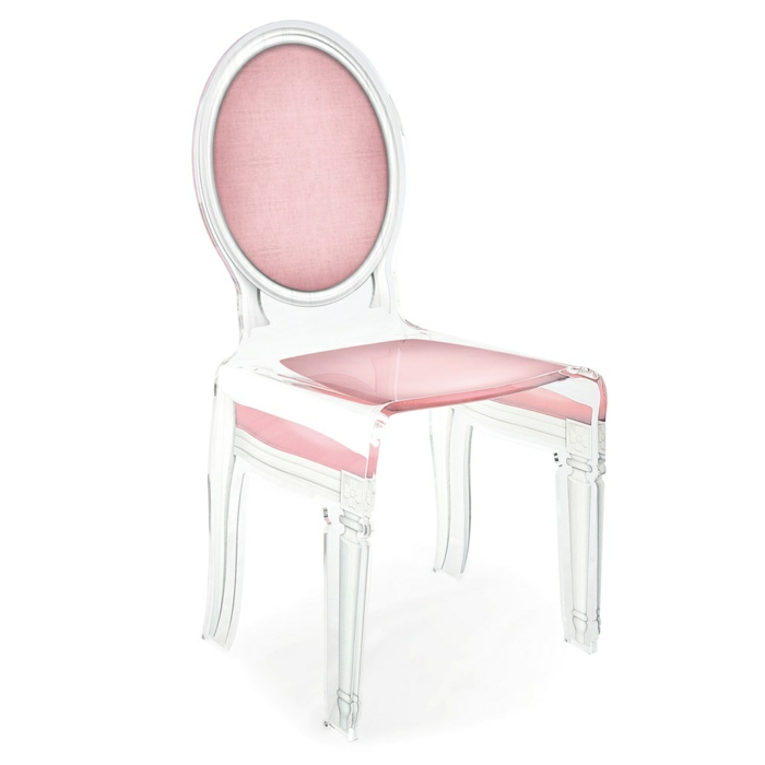 Chaise Transparente Rose Maison Design