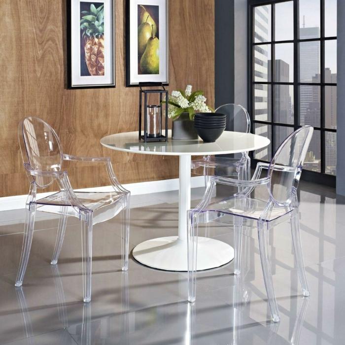 chaise transparente pour votre salon