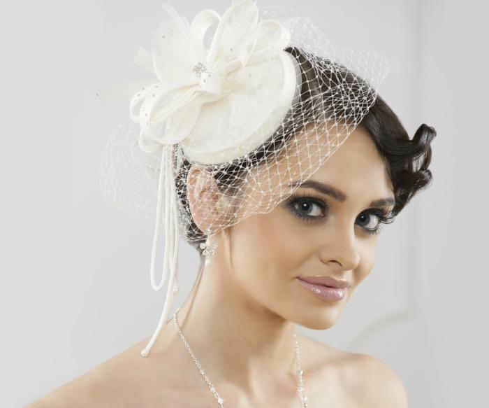 chapeau,coiffure mariage femme - idées en photos pour vous inspirer