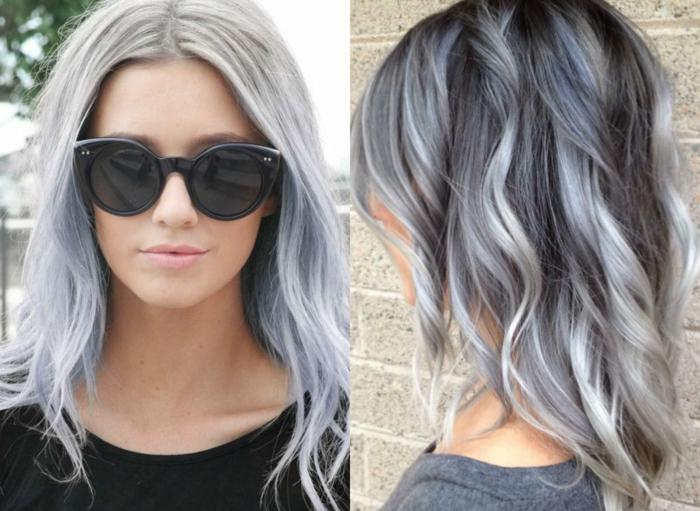 Couleur gris platine cheveux