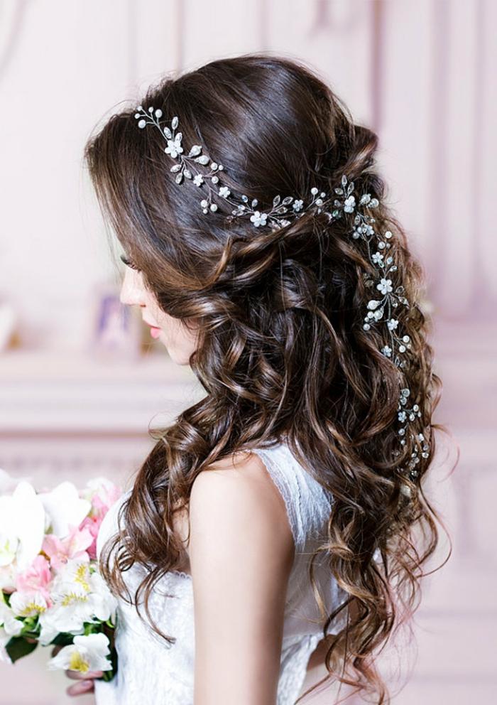 Cheveux longs,Coiffure mariage femme - idées en photos pour vous inspirer