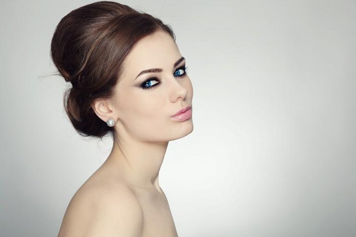 chignon-élégant-coiffure-mariage