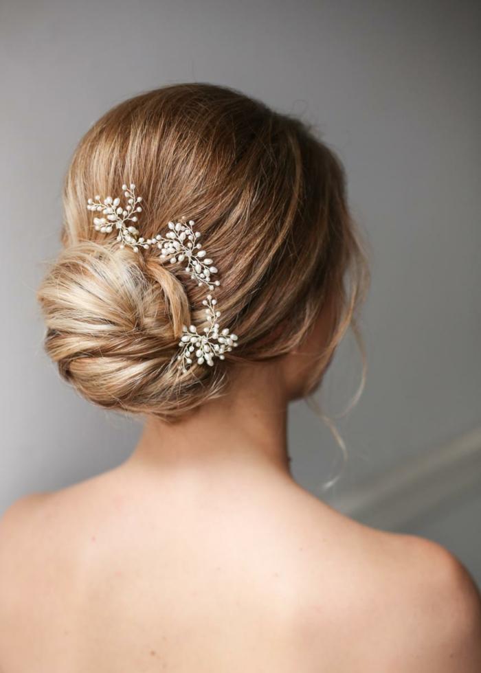 Chignon-Coiffure mariage femme - idées en photos pour vous inspirer